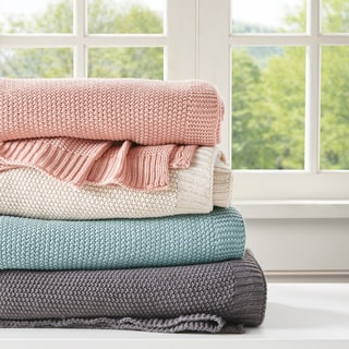 INK+IVY Bree Knit Throw 3-Color Option