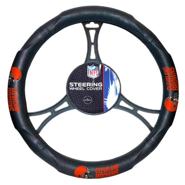 The Northwest Company NFL 605 Browns Car Steering Wheel Cover