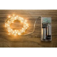 Allure Soft White Copper 20-foot 60-light String with Timer