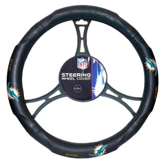 The Northwest Company NFL 605 Dolphins Car Steering Wheel Cover