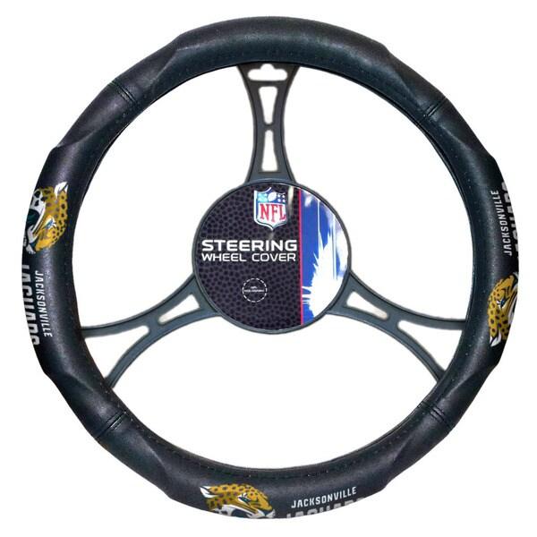 NFL 605 Jaguars Car Steering Wheel Cover