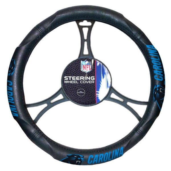 NFL 605 Panthers Car Steering Wheel Cover
