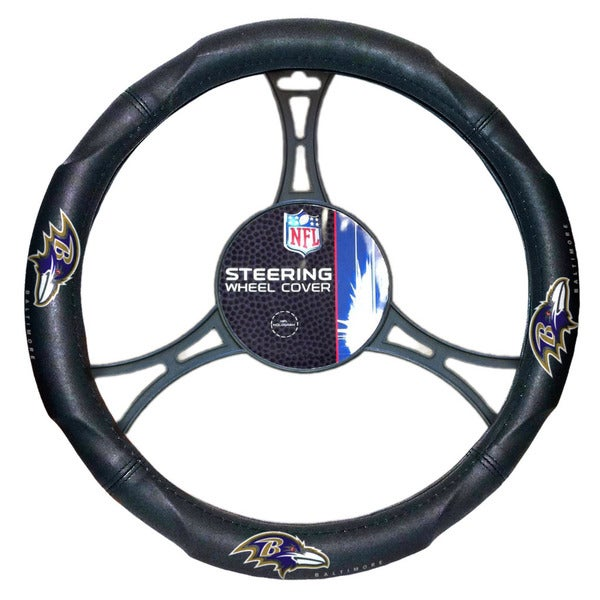 NFL 605 Ravens Car Steering Wheel Cover
