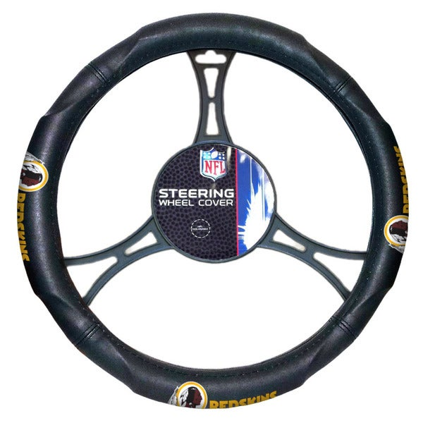 NFL Redskins Multicolored Rubber Car Steering Wheel Cover