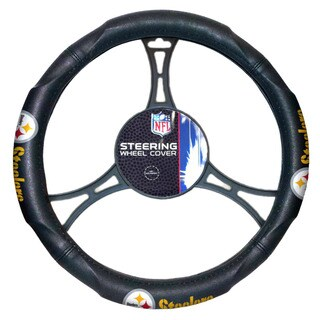 The Northwest Company NFL Steelers Car Steering Wheel Cover