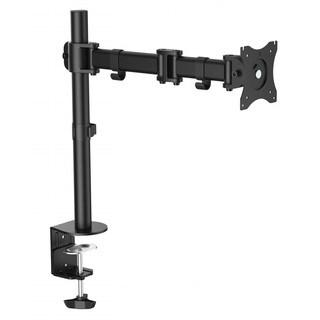Ergomax Steel LCD VESA Desk Mount Single Monitor Fully Adjustable Tilt Articulating for 1 Screen