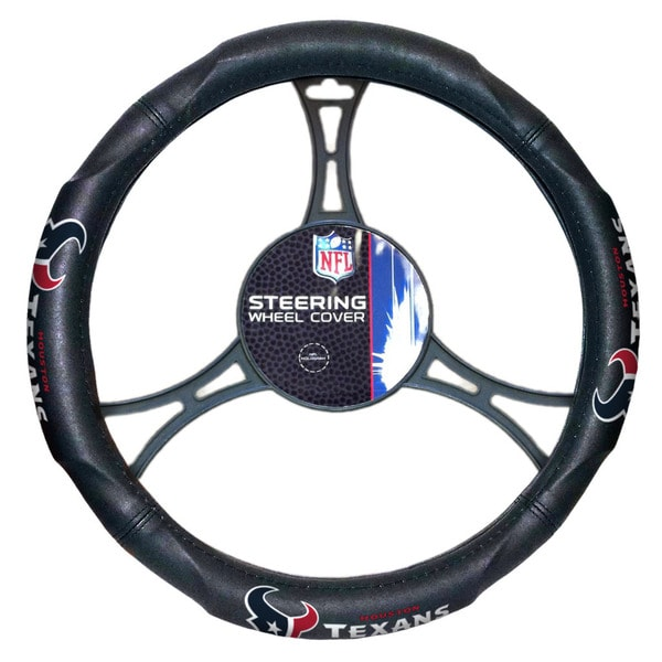 The Northwest Company NFL Houston Texans Car Steering Wheel Cover