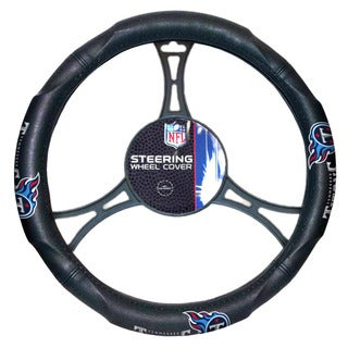 NFL Titans Multicolored Rubber Car Steering Wheel Cover