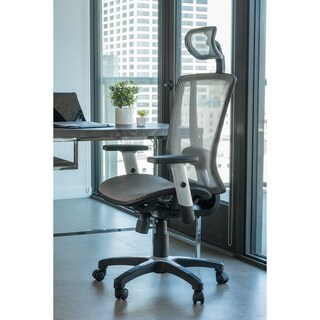 Ergomax Black Fully Meshed Ergo Office Chair With Headrest