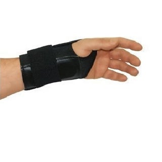 Unisex Black Fitted Elastic Left-hand Wrist Brace