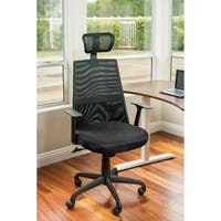 Ergomax Black Meshed Ergo Office Chair With Headrest