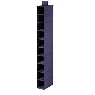 Blue Polyester 10-shelf Hanging Organizer