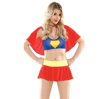Play Women's Blue, Red, and Yellow Nylon Spandex Super Sexy Halloween Costume