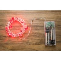 Allure 10-foot 30-light Hearts LED String With Timer