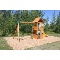 KidKraft Cedar Summit Willowbrook Wooden Swing Set Play Set