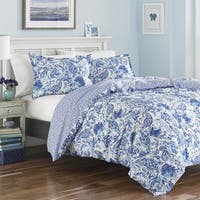 Poppy & Fritz Brooke Cobalt and White Paisley Cotton Duvet Cover Set