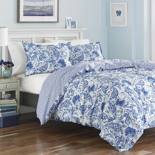 Poppy & Fritz Brooke Cobalt and White Paisley Cotton Duvet Cover Set (3 options available)