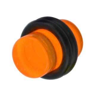 Supreme Jewelry & Accessories Two-tone Acrylic/Surgical Steel 0-gauge Plug Pair