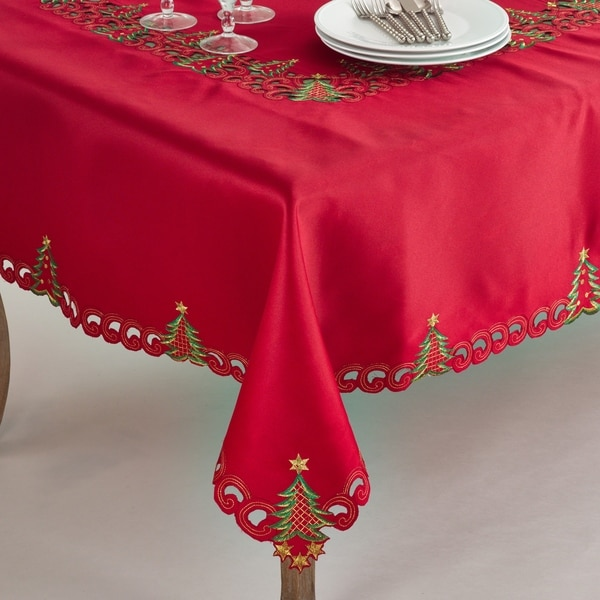 Pandora Collection Holiday Christmas Tree Tablecloth. Opens flyout.