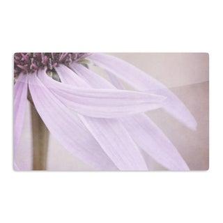 KESS InHouse Iris Lehnhardt 'Windswept' Lavender Floral Artistic Aluminum Magnet