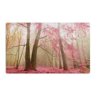 KESS InHouse Iris Lehnhardt 'Atmospheric Autumn' Pink Artistic Aluminum Magnet