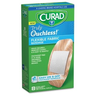 Curad Truly Ouchless XL Fabric Bandage - Beige (8/Box)
