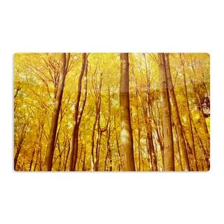 KESS InHouse Iris Lehnhardt 'Forest Colors' Yellow Orange Artistic Aluminum Magnet