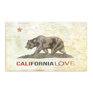 KESS InHouse iRuz33 'Cali Love' Artistic Aluminum Magnet