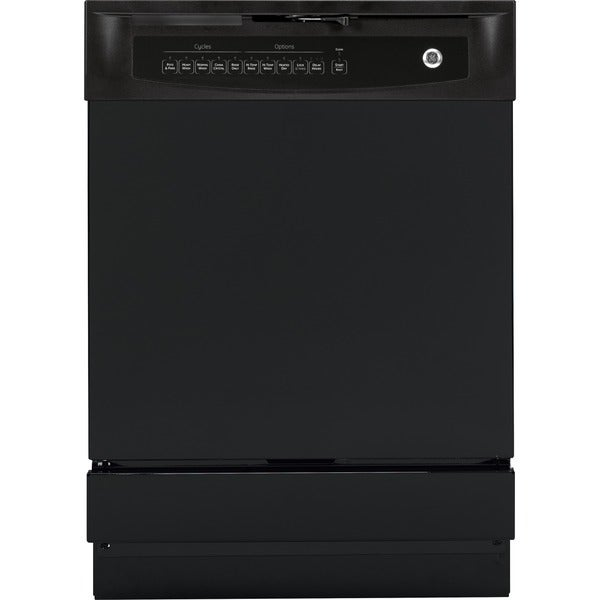 Shop Ge 24 In Black Dishwasher With Piranha Hard Food: Shop GE White/Black Plastic/Stainless Steel Full Console
