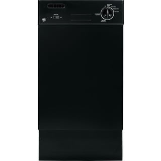 GE Spacemaker White or Black Stainless Steel and Plastic 18-inch Full Console Dishwasher