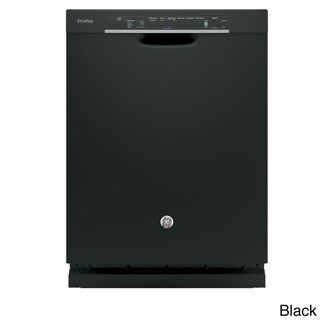 GE Profile Stainless Steel Interior Dishwasher with Front Controls Black