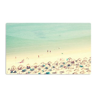 KESS InHouse Ingrid Beddoes 'Happy Summer' Beach Artistic Aluminum Magnet