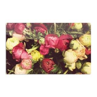 KESS InHouse Jillian Audrey 'Ranunculus' Pink Yellow Artistic Aluminum Magnet