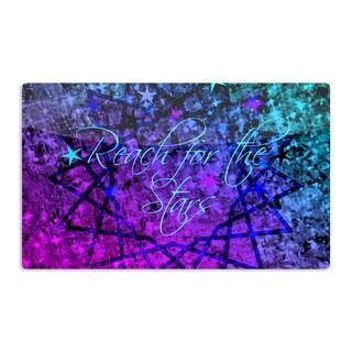 KESS InHouse Ebi Emporium 'Reach For The Stars' Pink Teal Artistic Aluminum Magnet