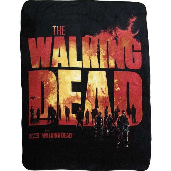 'The Walking Dead' Burning Logo Throw
