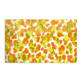 KESS InHouse Ebi Emporium 'Giraffe Spots - Orange' Orange Yellow Artistic Aluminum Magnet