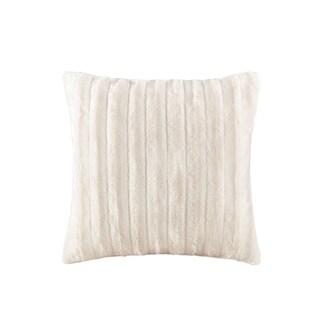 Madison Park York Faux Fur Square Throw Pillow 4-Color Option