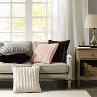 Carbon Loft Hammond Faux Fur 20-inch Square Throw Pillow