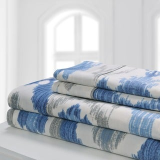 Superior 300 Thread Count Deep Pocket Printed Cotton Sheet Set (5 options available)