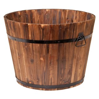 Metal planters outdoor decor for less overstock brown cedarsteel large round garden planter workwithnaturefo