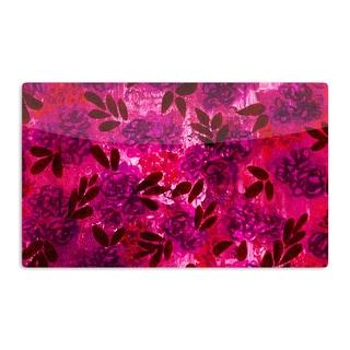 KESS InHouse Ebi Emporium 'Grunge Flowers IV' Pink Red Artistic Aluminum Magnet