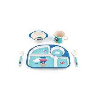 Peterson Housewares BF0263024S 5-piece Kid's 'Balloon' Bamboo Fiber Dinnerware Set