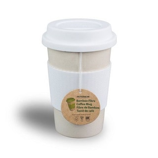 Peterson Housewares BF0265014CWH1 White 16-ounce Bamboo Fiber Eco Cup