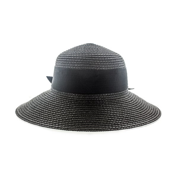 bea61b50e23 Faddism Women s Black or White Woven Sun Hat with Big Ribbon - Free  Shipping On Orders Over  45 - Overstock.com - 18987091