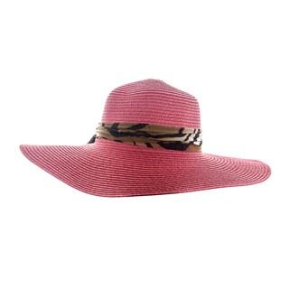 Faddism Women's Ribbon Hatband Floppy Sun Hat