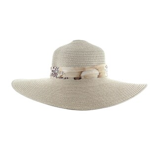 Faddism Women's Ribbon Hatband Floppy Sun Hat