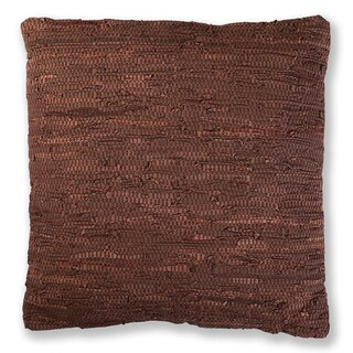 27-inch Matador Leather Chindi Throw Pillow
