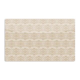 KESS InHouse Julia Grifol 'Soft Deco' Brown Tan Artistic Aluminum Magnet