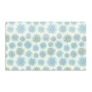 KESS InHouse Julia Grifol 'My Delicate Flowers' Blue Green Artistic Aluminum Magnet