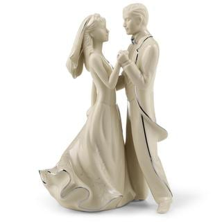 Lenox Wedding Promises Ivory Fine China with Platinum Accents 8.5-inch First Dance Cake Topper